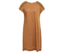 Ornella Braid-trimmed Cotton-jersey Mini Dress Light Brown Size 1
