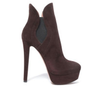 Suede Ankle Boots Chocolate