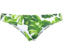 Kali Printed Low-rise Bikini Briefs Green