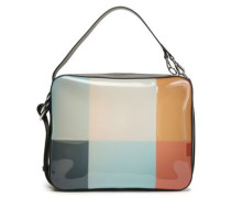 Leather-trimmed Color-block Pvc Shoulder Bag Multicolor Size --