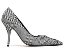 Prince Of Wales Twisted Tweed Pumps Gray