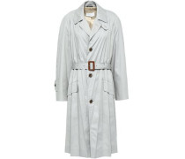 Belted Twill Trench Coat Stone