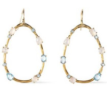 18-karat Gold, Topaz, Moonstone And Mother-of-pearl Earrings Gold Size --