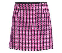 Wool-blend tweed mini skirt
