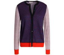 Paneled merino wool cardigan