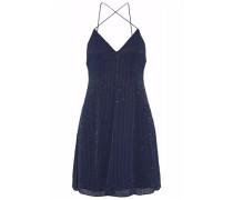 Beaded silk-chiffon mini dress