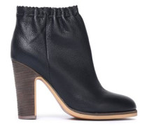 Jane textured-leather ankle boots