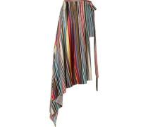 Woman Layered Striped Silk-twill Shorts Multicolor
