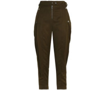 Crepe Tapered Pants Army Green
