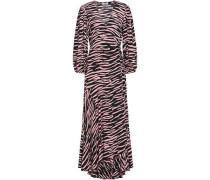 Woman Lindale Printed Crepe De Chine Maxi Wrap Dress Animal Print