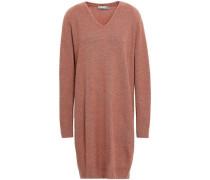 Mélange Wool And Cashmere-blend Mini Dress Antique Rose