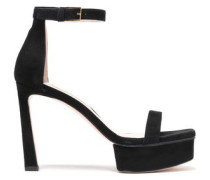 Woman Suede Platform Sandals Black