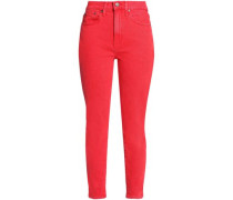 Good Cropped High-rise Slim-leg Jeans Papaya  5