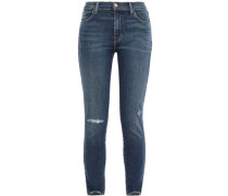 Alana Cropped Distressed High-rise Skinny Jeans Mid Denim  3