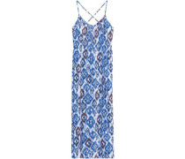 Lauri studded printed voile maxi dress