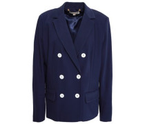 Double-breasted Wool-blend Blazer Navy