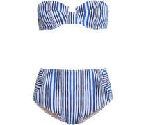 Aubrie two-tone high-rise bikini