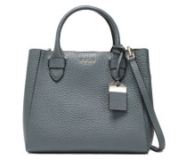 Textured-leather Tote Gray Size --