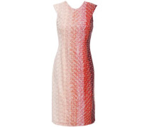 Embellished Dégradé Crochet-knit Dress Pastel Pink