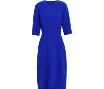 Silk-crepe Dress Royal Blue