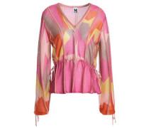 Metallic crochet-knit blouse