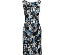 Peyton Floral-print Stretch-crepe Mini Dress Black
