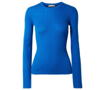 Ribbed Cashmere Sweater Bright Blue