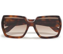 Square-frame Tortoiseshell Acetate Sunglasses Brown Size --