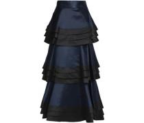 Samba tiered duchesse satin maxi skirt