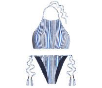 Quinn striped halterneck bikini