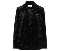 Crushed-velvet Blazer Black