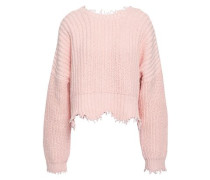 Frayed Cotton Sweater Baby Pink
