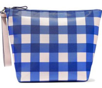 Origami gingham coated canvas pouch
