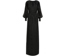 Polka-dot Georgette Gown Black