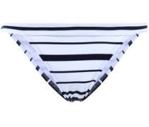 Striped Low-rise Bikini Briefs White