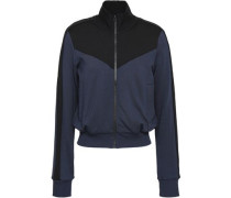 Two-tone French Terry Turtleneck Jacket Storm Blue