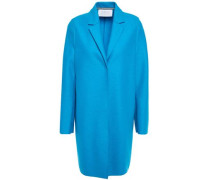 Woman Wool-felt Coat Turquoise