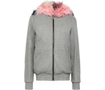 Wool-blend Terry Hooded Jacket Gray