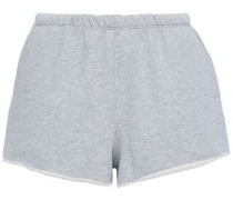 Mélange French Cotton-terry Shorts Stone