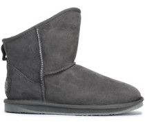 Shearling Ankle Boots Dark Gray
