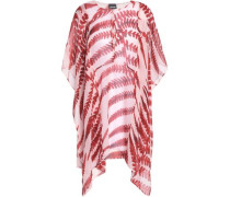 Draped Printed Georgette Blouse Baby Pink