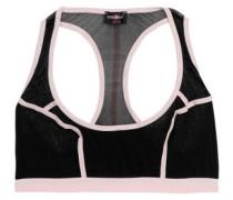 Two-tone mesh sports bra