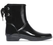 Lace-up rubber rain boots