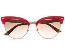 Clubmaster Acetate And Gold-tone Sunglasses Red Size --