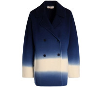 Double-breasted degradé merino wool coat