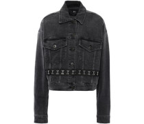Embellished Denim Jacket Charcoal