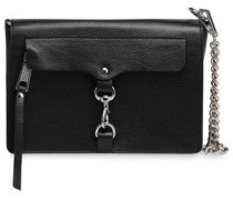 Mab Textured-leather Shoulder Bag Black Size --