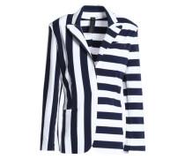 Striped French cotton-blend terry blazer