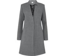 Wool-blend Twill Coat Gray