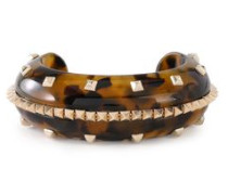 Woman Gold-tone Acetate Cuff Animal Print